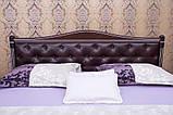 """Ліжко полуторне Олімп """"Прованс кожзам ромби + патина"""" (140*190), фото 2"""