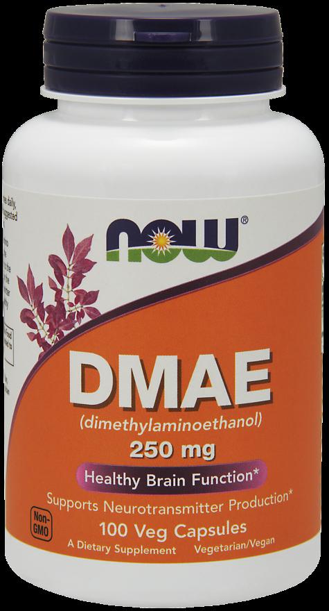 Замедление процессов старения, мозговая активность NOW Foods DMAE 250 mg 100 caps