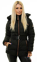 Зимняя черная женская куртка