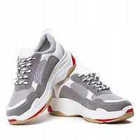 Женские модные кроссовки на шнурках , фото 1