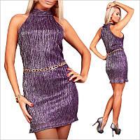 Коктейльное платье с поясом