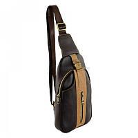 47d2581c942c Сумка-рюкзак из натуральной кожи TRAUM Темно-Коричневый (7172-53)