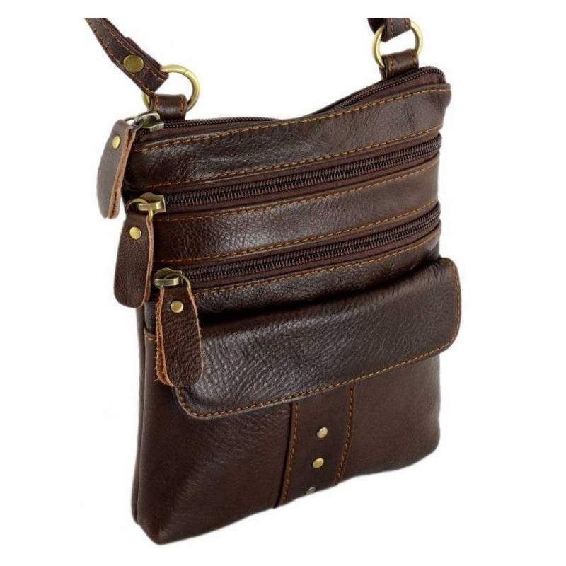 5a43cc90ccfe Мужская кожаная сумка-планшет TRAUM Темно-Коричневый (7172-41) - Интернет