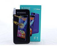 "Мобильный телефон M-Horse F1 Oppo 5.0"", черный, Android,  2000 mAh, 4x ARM Cortex-A7, 512 Мб / 2 Гб, 5.1 MP / 1.9 MP, sim-карт 2, 4G LTE"