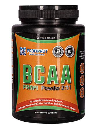 Аминокиcлоты без вкуса BCAA 2:1:1, 200г PROFIPROT, фото 2