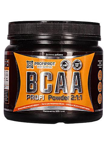 Аминокиcлоты BCAA 2:1:1 вкус, 500г PROFIPROT, фото 2