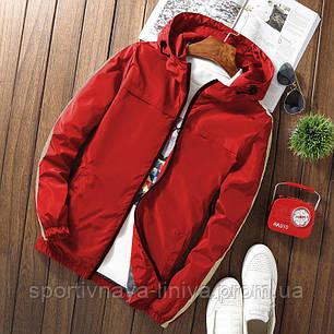 Мужская красная демисезонная куртка (ветровка), фото 2