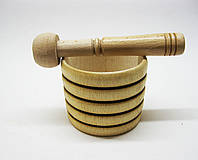 Деревянная ступка с пестиком