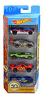 Набор из 5 машинок Хот Вилс Hot Wheels 50th Anniversary Track Stars 5 Pack, 1:64 Scale