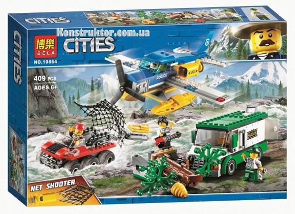 """Конструктор Bela 10864 City """"Ограбление на горной реке"""" 409 деталей. Аналог Lego City 60175"""