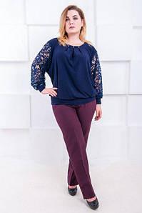 Женские офисные брюки большого размера Джуди 52-60 р