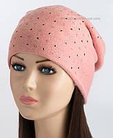 Зимняя женская шапочка Ламинария LX персикового цвета