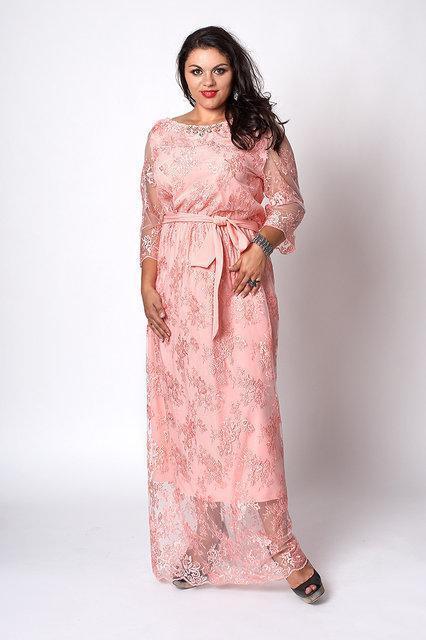 Женское платье длинное больших размеров