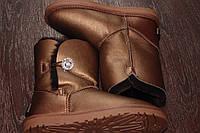 Натуральные угги с пуговицей-кристаллом,UGG Australia Bailey Button Metallic Bronze Jewel