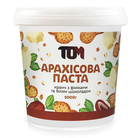Арахисовая паста ТОМ Финик с белым шоколадом 1кг