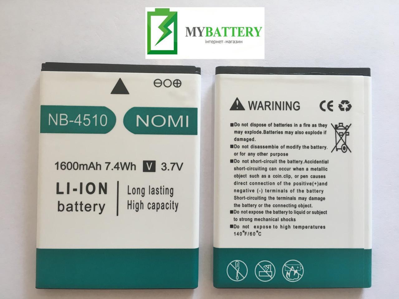 Оригинальный аккумулятор АКБ батарея Nomi NB-4510 для Nomi i4510 1600mAh 3.7V