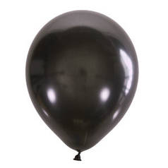 """Шар 12"""" LATEX OCCIDENTAL-МК металлик 030 черный"""