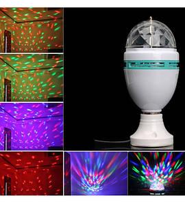 Светодиодная диско лампа с патроном LED Mini Party Light