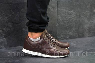 Кроссовки Reebok Classic (темно коричневые) натуральная кожа, кожаные кроссовки Reebok Рибок 5976