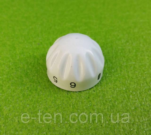 Ручка белая №3 пластиковая для переключателей мощности, таймеров, терморегуляторов (0-6)   Турция