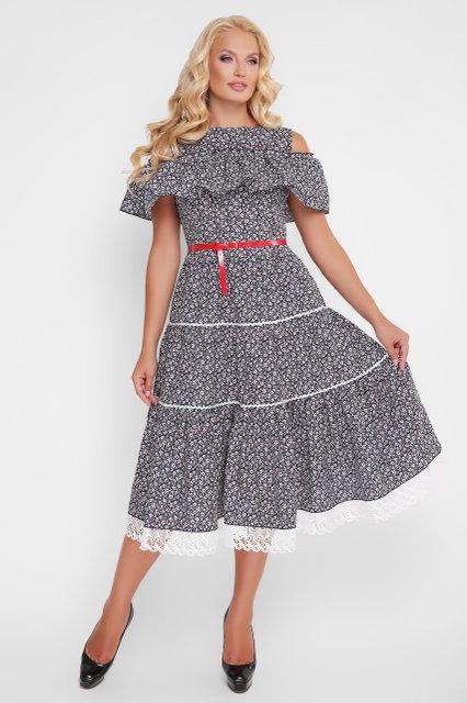 a786f5697ee Нарядное платье-сарафан Таяна синее фиалки (48-54) - цена 940 грн ...