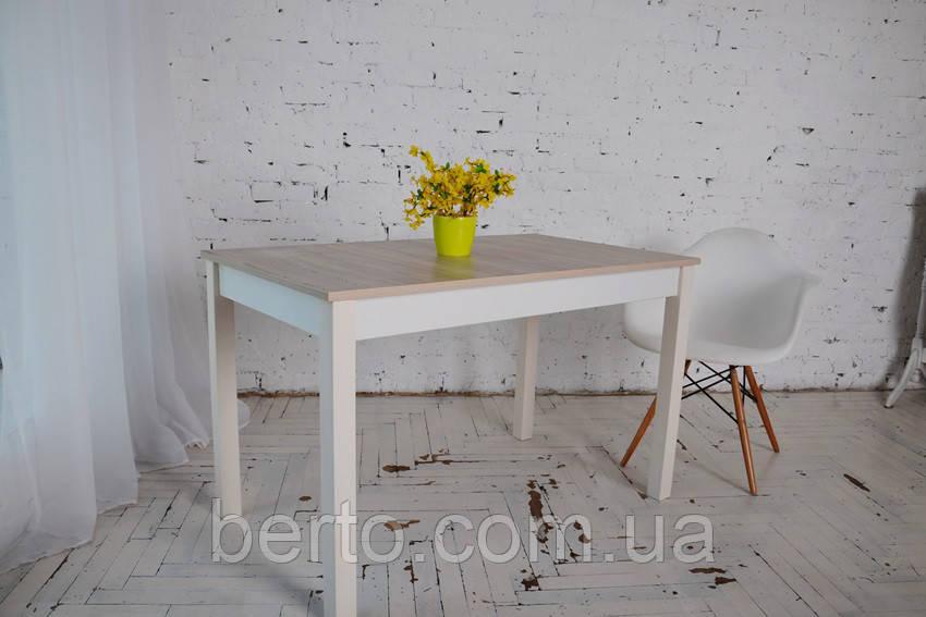 Стол нераскладной обеденный Лунго (ясень/белый)