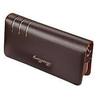 Мужской кожаный кошелек Baellerry S6111 - коричневый, портмоне, бумажник, с доставкой по Киеву и Украине