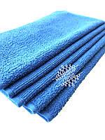 Полотенце махровое гладкокрашеное  50*90 голубое Узбекистан