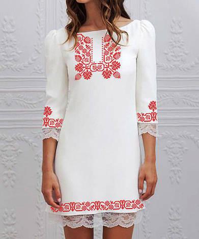 Заготовка жіночого плаття чи сукні для вишивки та вишивання бісером Бисерок  «Хміль 169» ( П-169 )