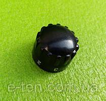Ручка чорна №4 пластикова для перемикачів потужності, таймерів, терморегуляторів (OFF 1-5) Туреччина