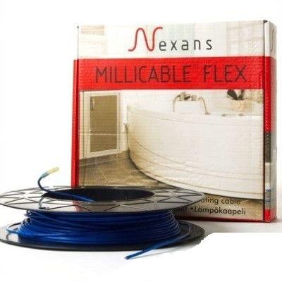 Кабель нагревательный тонкий 4,0 кв.м, 600Вт  Nexans Millicable Flex 15