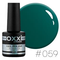 Гель-лак Oxxi Professional №59 зеленый бутылочный,10 мл