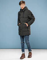 11 Киро Токао | Зимняя подростковая куртка 6005-1 хаки, фото 2