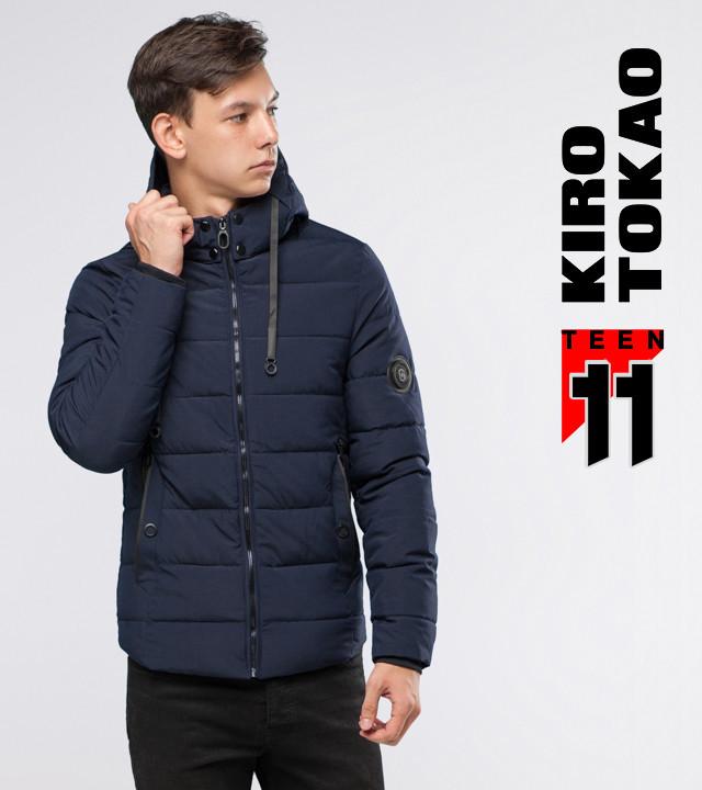 11 Киро Токао | Подростковая куртка зимняя 6009-1 темно-синий