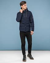 11 Киро Токао | Подростковая куртка зимняя 6009-1 темно-синий, фото 2