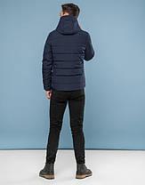 11 Киро Токао | Подростковая куртка зимняя 6009-1 темно-синий, фото 3