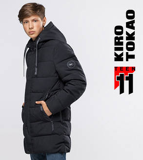 11 Kiro Tokao   Куртка подростковая на зиму 6005-1 черный, фото 2