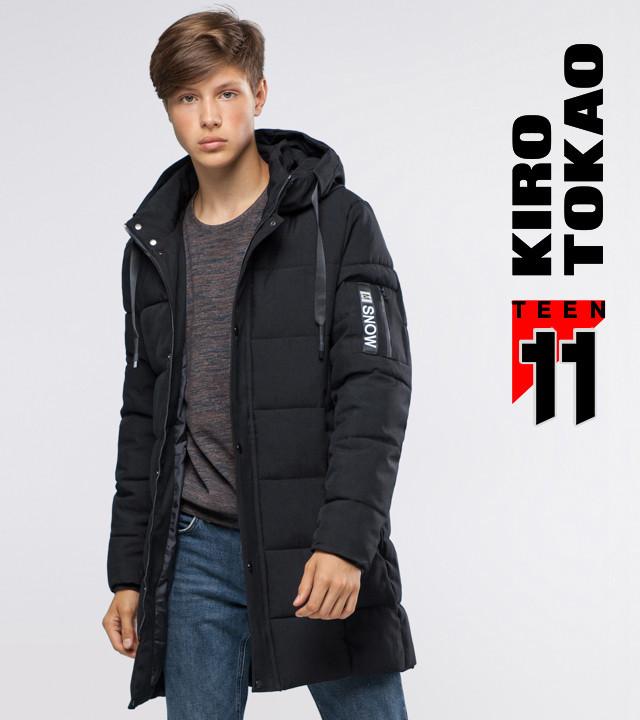 11 Kiro Tokao   Куртка подростковая на зиму 6003-1 черный