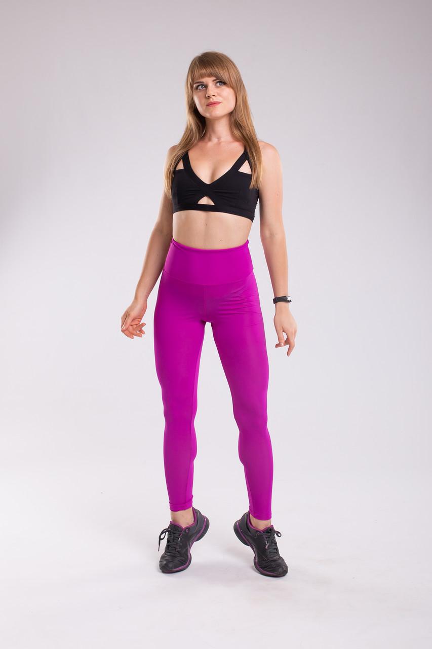 Лосины, леггинсы Purple Bend спортивные компрессионные (с утягиванием) фиолетовые push it