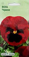 """Семена цветов Анютины глазки (Виола) красная, 0,05 г, """"Елітсортнасіння"""",  Украина"""