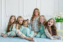 Пижамки из натурального премиум хлопка для девочек