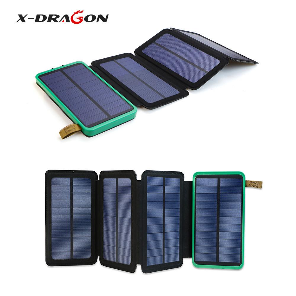 Портативная солнечная панель с батареей X-DRAGON