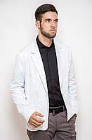 Стильный клубный пиджак мужской на одну пуговицу белый