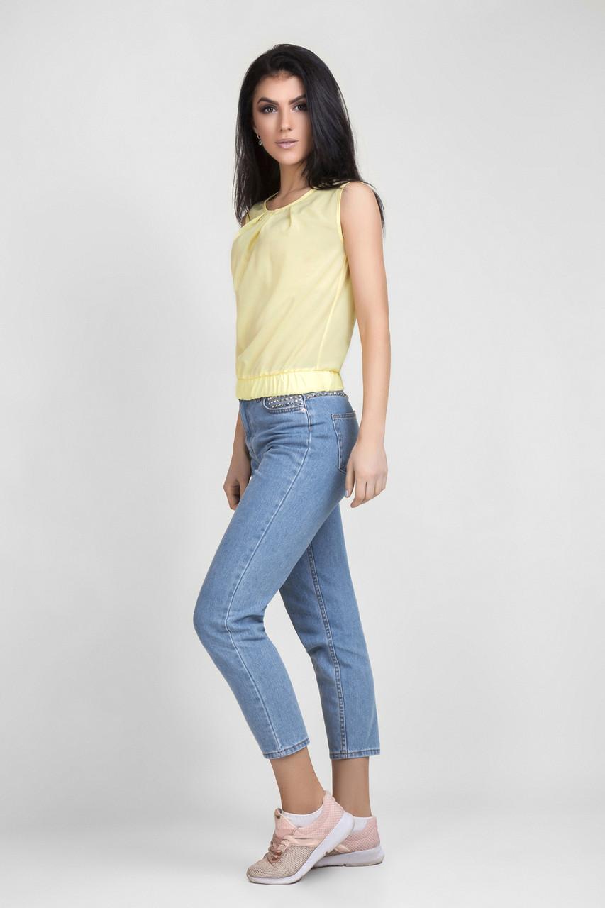 Блуза женская летняя без рукава, фото 1