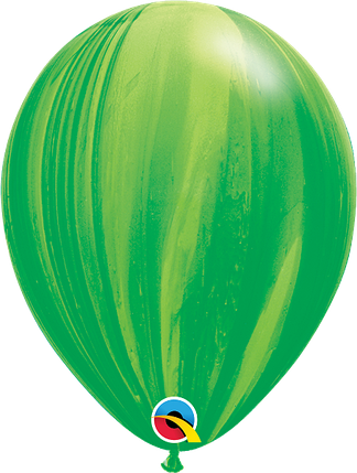 "Куля 11 ""(28 см) Qualatex агат Green (зелений), фото 2"