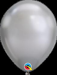 "Шар 11"" (28 см) Qualatex хром SILVER (серебро)"