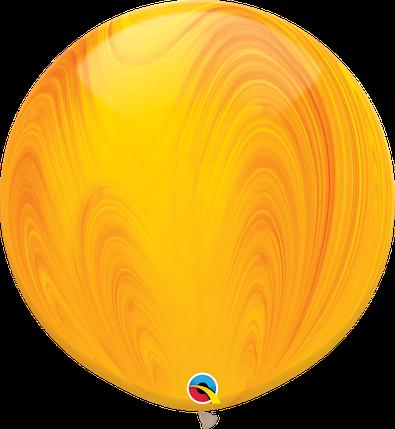 """Шар 30"""" (75 см) Qualatex агат Yellow Orange (желто-оранжевый), фото 2"""