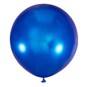 Шар 30/75 см Мексика Металлик BLUE (синий металлик), фото 2