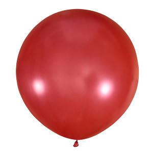 "Шар 30"" (75 см) Мексика металлик 031 CHERRY RED (черри / красный), фото 2"