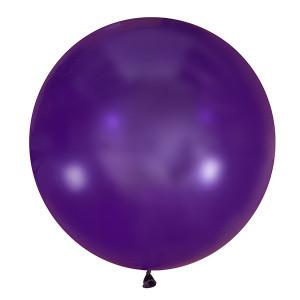 """Шар 36"""" LATEX OCCIDENTAL-МК декоратор 049 фиолетовый кристалл"""